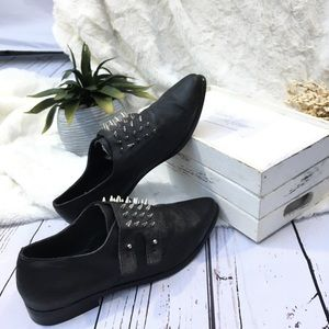 ASOS monk strap spike shoes